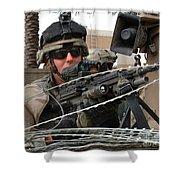 Iraqi And U.s. Soldiers Patrol The Al Shower Curtain