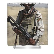 Iraqi Army Soldier Shower Curtain