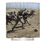 Iraqi Army Soldiers Move To Positions Shower Curtain