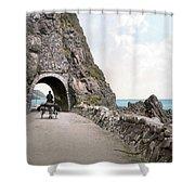 Ireland: Black Cave Tunnel Shower Curtain
