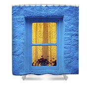 Ireland Cottage Window At Night Shower Curtain