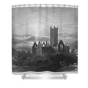 Ireland: Rosserk Abbey Shower Curtain