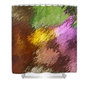 Iris Abstract II Shower Curtain