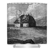 Irish Cabin, 18th Century Shower Curtain