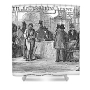 Irish Immigrants, 1851 Shower Curtain