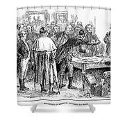 Irish Land League, 1886 Shower Curtain by Granger