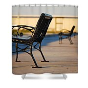 Iron Bench Shower Curtain