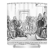 Iron Boot, 1777 Shower Curtain by Granger