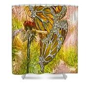 Iron Butterflys Shower Curtain by Jack Zulli