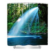 Iron Creek Falls From The Side  Shower Curtain