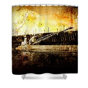 Iron Ore Freighter Shower Curtain