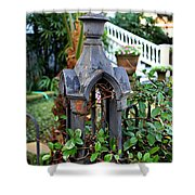 Iron Post Shower Curtain by Perry Webster