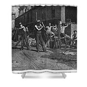 Iron Workers, 1884 Shower Curtain