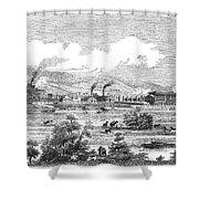Iron Works, 1855 Shower Curtain