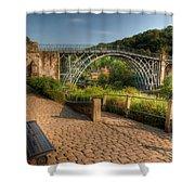 Ironbridge England Shower Curtain by Adrian Evans