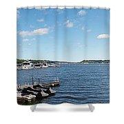 Irondequoit Bay Panorama Shower Curtain