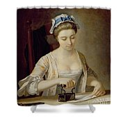 Ironing Shower Curtain by Henry Robert Morland