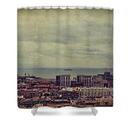 Is Anybody Out There Shower Curtain by Laurie Search