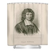Isaac Barrow, English Mathematician Shower Curtain