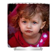 Isabelle - Chocolate Mouth Shower Curtain