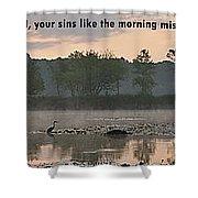 Isaiah 44 22 Shower Curtain