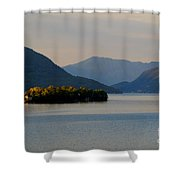 Island And Mountain Shower Curtain