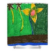 Island Flower Shower Curtain