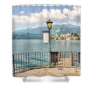 Island San Giulio On Lake Orta Shower Curtain