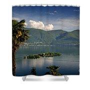Islands On An Alpine Lake Shower Curtain