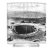Israel: Well And Troughs Shower Curtain