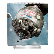 Iss Expedition 11 Crew Arriving Shower Curtain