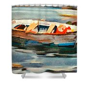 Istrian Fishing Boat Shower Curtain