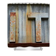 It Rusty Sign Shower Curtain