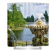 Italian Fountain London Shower Curtain