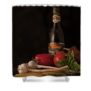 Italian Palate Number 1 Shower Curtain by Constance Sanders