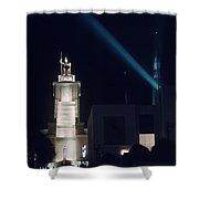 Italian Pavilion Tower At Night Shower Curtain