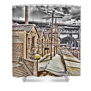 Italian Village-sydney Harbor Bridge Shower Curtain
