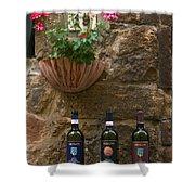 Italian Wine And Flowers Shower Curtain
