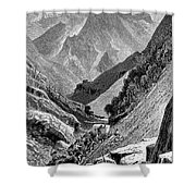 Italy: Carrara Mountains Shower Curtain