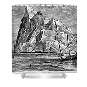 Italy: Castle Of Ischia Shower Curtain