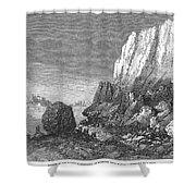 Italy: Earthquake, 1856 Shower Curtain