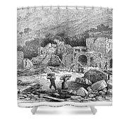 Italy: Earthquake, 1881 Shower Curtain