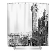 Italy: Siena, 19th Century Shower Curtain by Granger