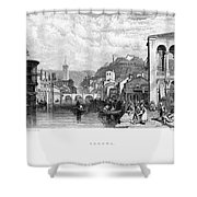 Italy: Verona, 1833 Shower Curtain