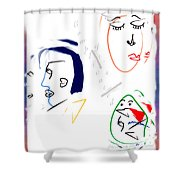 It's Complicated Shower Curtain
