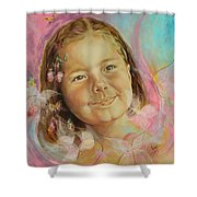 Ivana's Portrait Shower Curtain