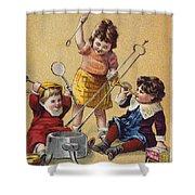 Ivorine Trade Card, C1880 Shower Curtain