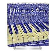 Ivory Blues Shower Curtain