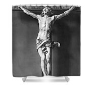 Ivory Crucifix Shower Curtain