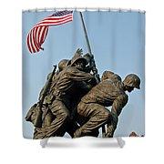 Iwo Jima Memoria 2 Shower Curtain